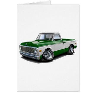 Cartão Caminhão 1970-72 Verde-Branco de Chevy C10