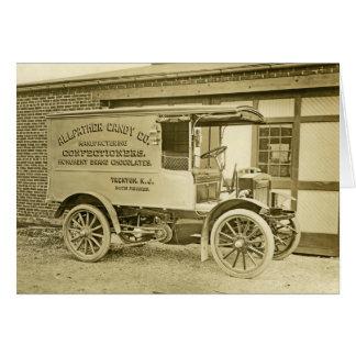 Cartão Caminhão antigo Notecard do Co dos doces de