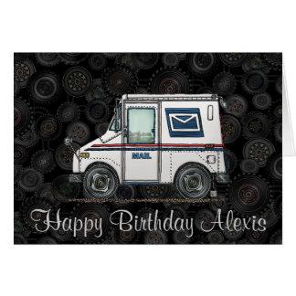 Cartão Caminhão de correio bonito