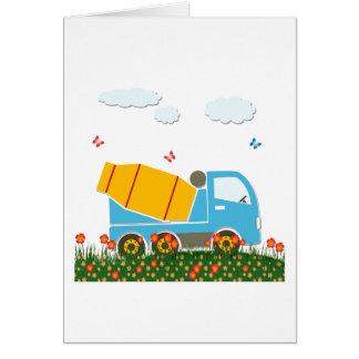 Cartão Caminhão do misturador de cimento
