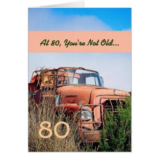 Cartão Caminhão feliz ENGRAÇADO 80A do vintage do