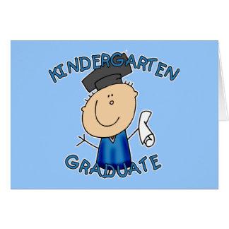 Cartão Camisas graduadas do jardim de infância T