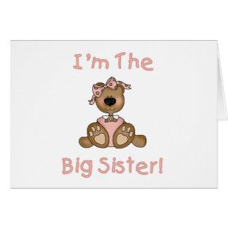 Cartão Camiseta e presentes da irmã mais velha do urso de