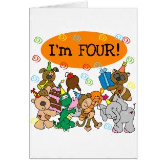 Cartão Camiseta e presentes do aniversário dos animais de