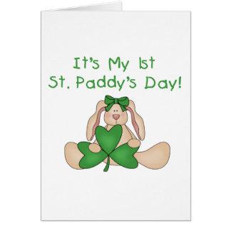 Cartão Camiseta e presentes do dia de ø St Patrick do