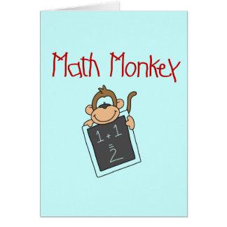 Cartão Camiseta e presentes do macaco da matemática