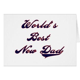 Cartão Camiseta e presentes do novo papai do mundo o