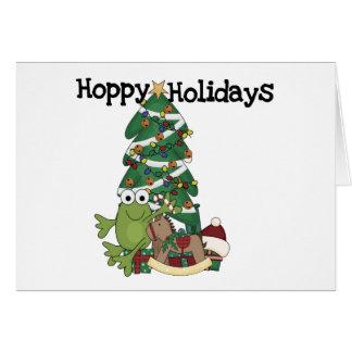 Cartão Camiseta e presentes Hoppy dos feriados
