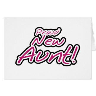 Cartão Camiseta e presentes novos orgulhosos da tia