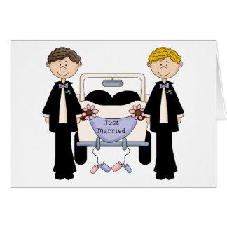 Cartão Camisetas e presentes masculinos alegres do recem