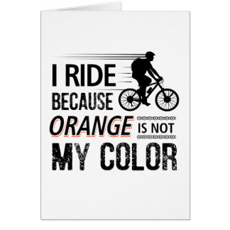 Cartão Camisetas engraçadas do ciclismo