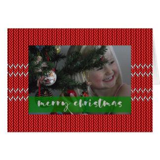 Cartão Camisola do vermelho do Feliz Natal