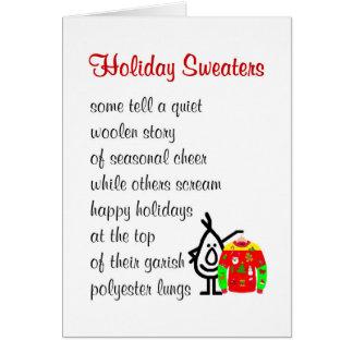 Cartão Camisolas do feriado - um poema engraçado do Natal