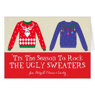 Cartão Camisolas feias do Natal