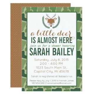Cartão Camo verde chá de fraldas pequeno dos cervos
