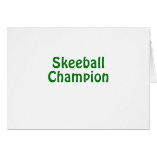 Cartão Campeão de Skeeball