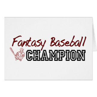 Cartão Campeão do basebol da fantasia