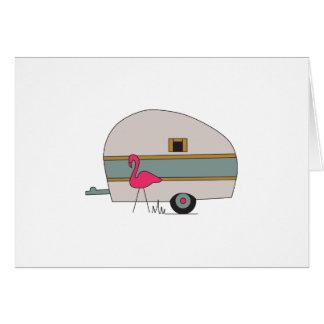 Cartão Campista com flamingo