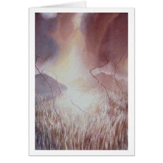 Cartão Campo ambarino III da tempestade