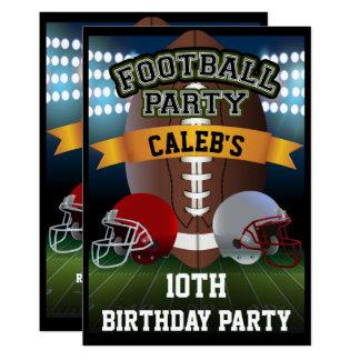 Cartão Campo de futebol & festa de aniversário dos