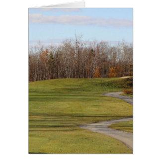 Cartão Campo de golfe