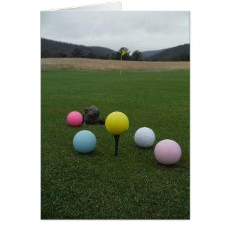 Cartão Campo de golfe da montanha da páscoa