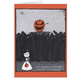 Cartão Campo de milho Pumpkinhead