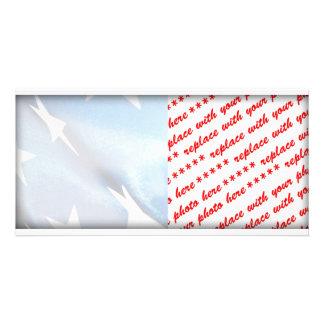 Cartão Campo do azul da bandeira americana
