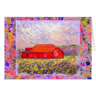 Cartão campo do gotejamento roxo selvagem da íris