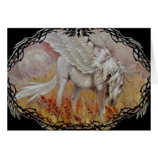 Cartão - campos do Wildflower de Pegasus