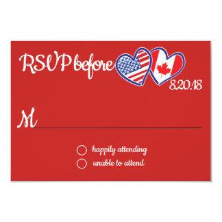 Cartão canadense americano da resposta do amor