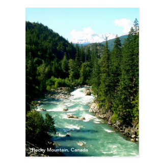 Cartão canadense da montanha rochosa