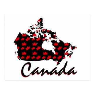 Cartão canadense de Canadá do bordo vermelho do