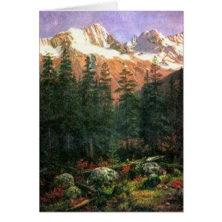 Cartão Canadense Montanhas Rochosas de Albert Bierstadt