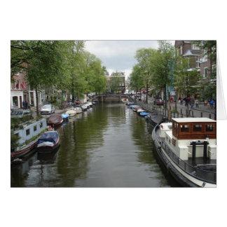 Cartão Canais de Amsterdão
