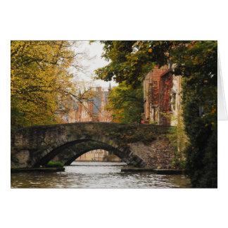 Cartão Canais de Bruges, Bélgica