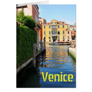 Cartão Canal grande, Veneza, Italia