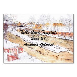 Cartão Canal na rampa da madeira da neve