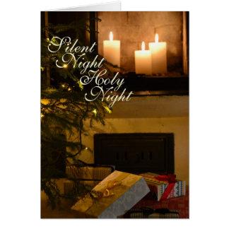 """Cartão """"Canção de natal amado do Natal da noite"""