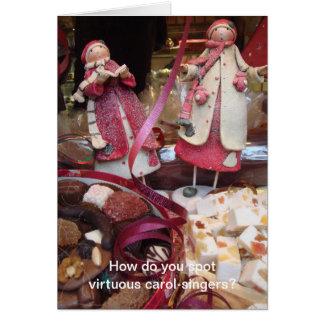 Cartão Canção de natal-cantores