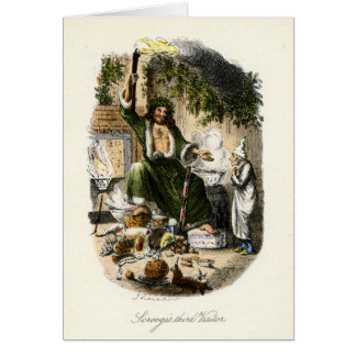 Cartão Canção de natal do Natal - fantasma do presente de