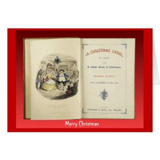Cartão Canção de natal do Natal, Frontispiece da primeira