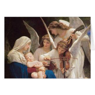 Cartão Canção do Natal dos anjos