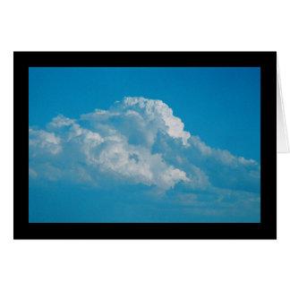 Cartão Canção macia das nuvens do branco do solenóide.