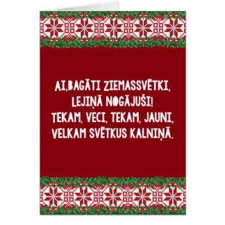 Cartão Canção popular II Latviešu Tautasdziesma do Natal