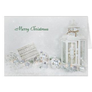 Cartão Canção silenciosa da noite do Natal