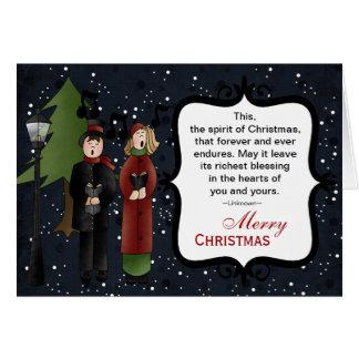 Cartão Canções de natal do Natal