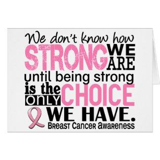 Cartão Cancro da mama como forte nós somos