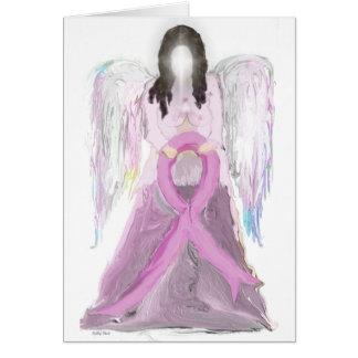 Cartão Cancro da mama do anjo