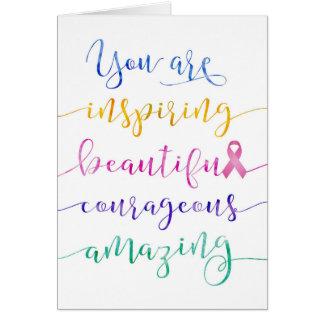 Cartão Cancro da mama - recorde quem você é